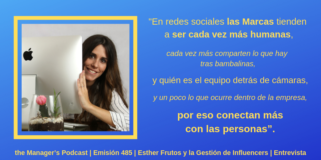 Esther Frutos | Community Manager | Experta en Instagram y Youtube | Gestión y Consultoría en Redes Sociales | Asesoría para Negocios e Influencers | Marca Personal en Internet | Freelancer para Empresas y Profesionales | RRSS y Marketing Digital
