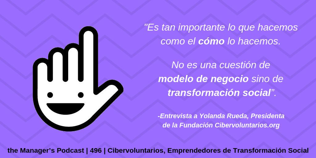 Yolanda Rueda Presidenta de la Fundación Cibervoluntarios.org y empodera.org | ciber activismo | emprendedor social tecnológico | empodera a la gente | @ciberyolanda | promover el uso de las TIC para generar innovación social | voluntariado sin ánimo de lucro