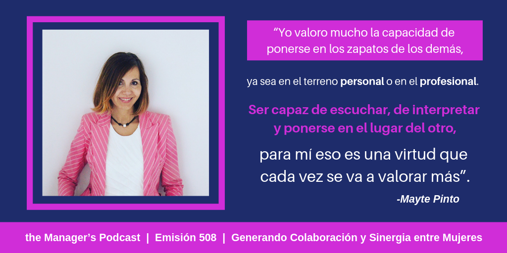 Mayte Pinto fundadora de The Damas Blog y Directora de FUNDAL (Fundación del Deporte Alcobendas) | Consultora en Marketing Digital y Marketing Estratégico | Colaboradora y Mentora de Woman Forward Foundation | Sinergias entre Mujeres Emprendedoras | Networking | Marca Personal