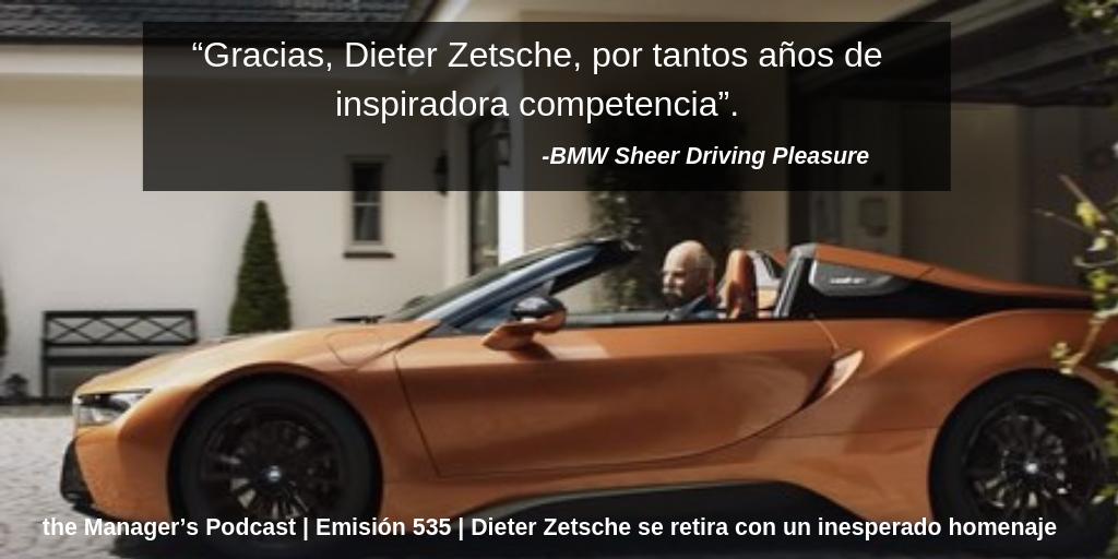BMW despide de forma generosa al ex CEO de su rival comercial Mercedes Benz | El original video que BMW le produjo a Dr. Z | Dieter Zetsche se retira con un inesperado homenaje | El homenaje que hace la compañía de coches alemana a su competidor mas duro | Dieter Zetsche cede el mando de Daimler | video viral de BMW y Mercedes Benz