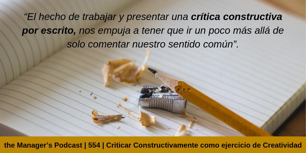 Habilidades creativas del pensamiento | Cómo procesar la crítica y hacerla constructiva | Criticar Constructivamente como ejercicio de Creatividad e Innovación | cómo elaborar una crítica constructiva y positiva | crítica constructiva características